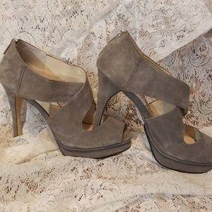 Michael Kors grey suede heels